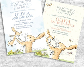 Guess How Much I Love You Invitation, Guess How Much I Love You Baby Shower