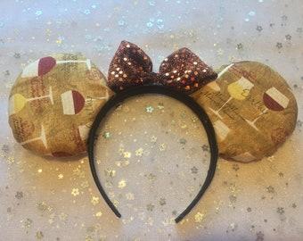 Epcot Food and Wine Festival Ears, Wine Glass ears, Minnie ears, Mickey ears, Disney World Ears, Epcot Ears