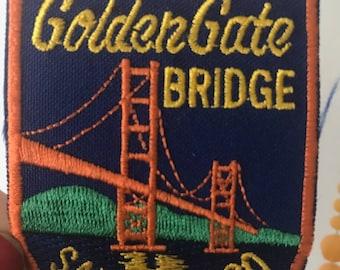 Vintage Golden Gate Bridge San Francisco Patch Souvenir