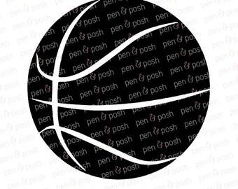 Basketball SVG - Basketball SVG Files for Cricut and Silhouette - Basketball Cut Files - Basketball Clipart - Basketball