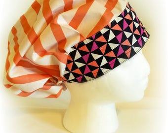 A little Peachy design Bouffant style scrub hat