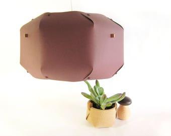 Paper ceiling light / Origami lampshade / handmade lamp / marsala