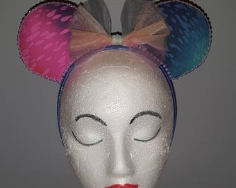 Clearance! Rainbow Ombre Minnie Mouse Ears Headband