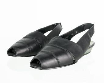 Vintage sandals with wedge heel