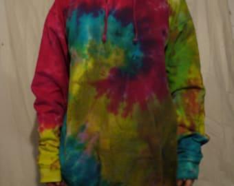 tie dye hippie  hoodie