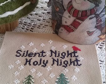 Pattern, Silent Night Woodland Creatures Pattern, Holy Night Woodland Pattern, Digital Pattern, Color and Black and White Patterns