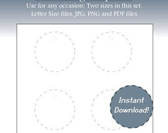 circle gift tag template - gift bag template etsy