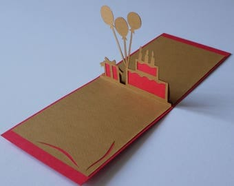 Kirigami birthday card