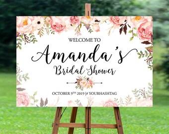 Bridal Shower Welcome Sign, Bridal Shower sign, Bridal Shower decoration, welcome wedding sign, blush bridal shower