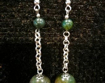 """Earrings """"Indian agate necklace"""""""