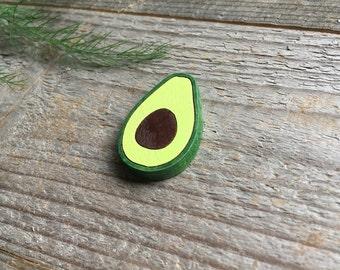 Avocado pin / Avocado brooch / Wood pin / Wood brooch / Fruit pin