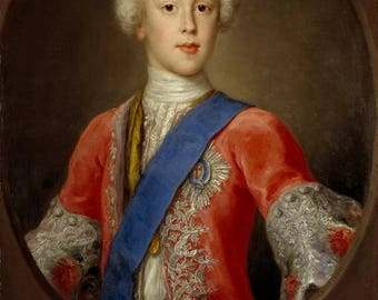 Antonio David prince charles edward stuart - Poster A3 or A4 Matt, Glossy or Art Canvas Paper
