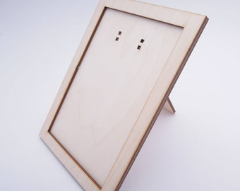 4x6 wooden photo frame for crafts laser cut with - Wooden Laser Cut Frame