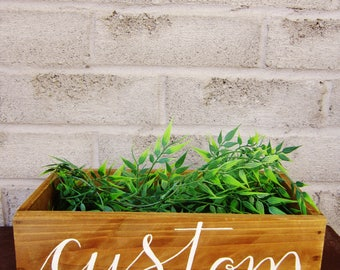 Custom Hand Lettering Wooden Box