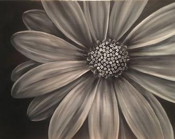 Black/White Wall Flower