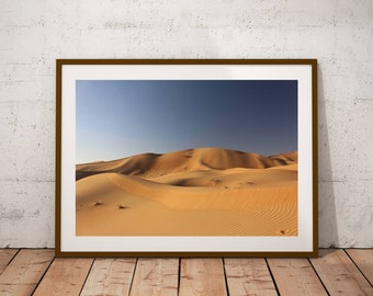 Desert Panorama-Desert sand with blue sky-Digital download