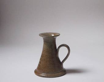 vintage stoneware candlestick candle holder