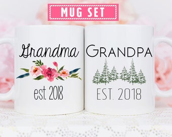 Grandparent Mugs, Pregnancy Reveal To Grandparents, Pregnancy Announcement Grandparents, New Grandparents, Personalized Mugs, future grandma