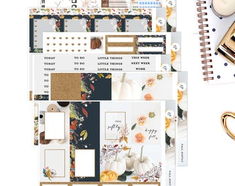 Fall Softly  || Weekly Planner Sticker Kit|| for Erin Condren Vertical Layout