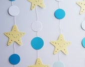 STARFISH GARLAND--Mermaid Birthday--Under the Sea Baby Shower--Nautical Theme--Room Decor-Nursery Decor and more.