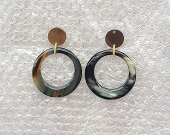 Buffalo Horn Earrings QG 08