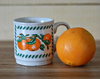 Vintage Florida Orange mug, Summer mug, Fruit mug, Summer gift, State mug, Mother gift, Retro mug, 80s mug, Summer birthday, BBQ gift