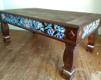 Coffee Table With Apple Blossom Mosaic