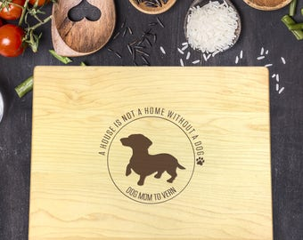 Personalized Cutting Board, Cutting Board Dog, Custom Engraved, Christmas Gift, Gift for Her, Gift for Friend, Dog Lover Gift, B-0102
