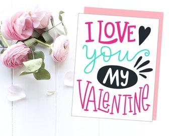 Valentine's day, Valentine's card girlfriend, Valentine's card printable, Love card printable, Love card for her, Valentine's gift
