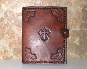 wallet leather mini natural vintage