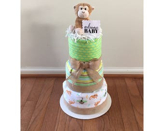 unique baby shower centerpiece baby shower gift jungle baby shower gender neutral diaper