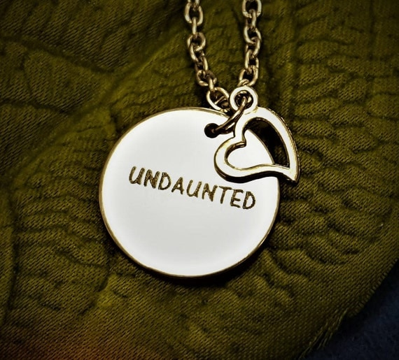 Runner Jewelry, UNDAUNTED Charm Necklace, Marathon Fitness Jewelry, Team Coach Workout Gift, Inspirational Word Charms, Encouragement Gifts
