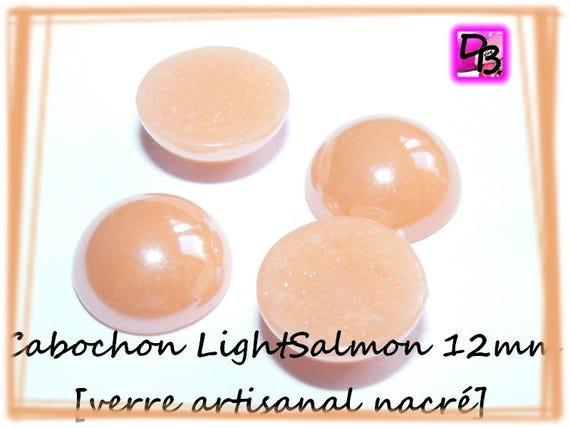 1 cabochon nacré [LightSalmon] 12 mm