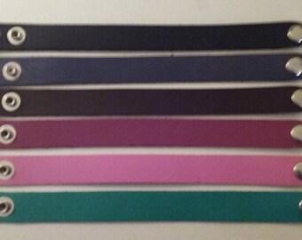 Chunky Plain Leather Bracelets ready for Imprinting