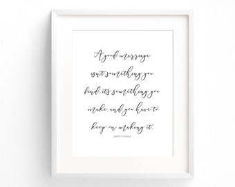 Quote Print - Marriage Print - Love Quote - Gift For Her - Typography Print - Gifts Under 20 - Anniversary Gift - Home Decor