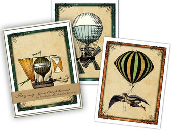 Flying Contraptions Boxed Note Card Set