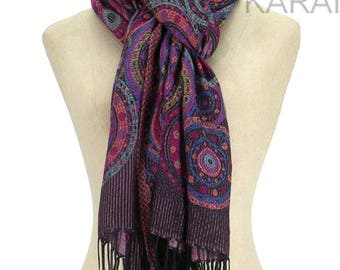 10% OFF Purple Pashmina Scarf,Spring Scarf, Autumm Scarf, Fall Scarf, Oversize Cowl Scarf, Shawl, Women Scarves, Violet Scarf