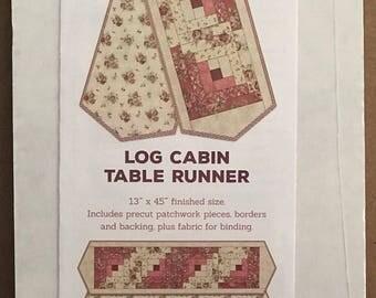 Log Cabin Table Runner Kit