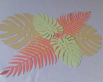 Tropical Leaves Set, Tropical Leaves, Tropical Leaves Runner, Tropical Leaf Runner, Tropical Party Décor, Tropical Party Decoration