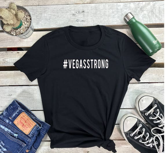 VEGAS STRONG Women's Short Sleeve Crewneck T Shirt , Hip Hop Tee Pray for Las Vegas, #vegasstrong Shirt,
