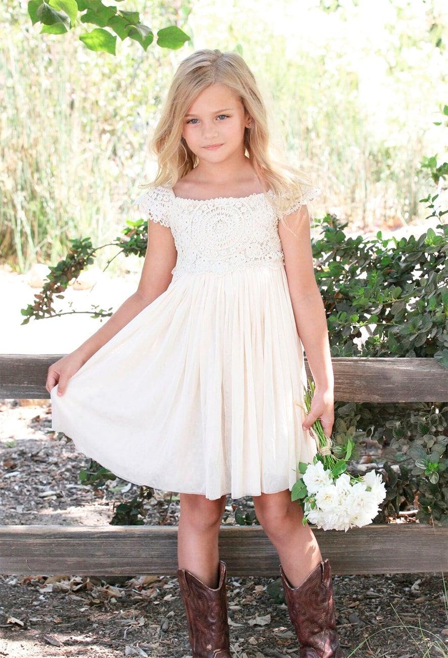 Boho Flower Girl Dresses
