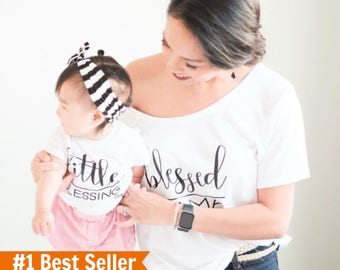 Blessed Mama shirt, Mothers Day Gift, mommy and me shirts, matching mother daughter, mom and son matching outfits, mommy and me outfits