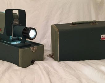 Vintage 1950s Argus 300 Slide Projector w/ Case TESTED WORKS PERFECT