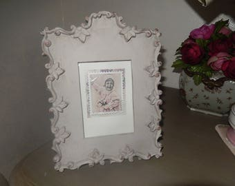 photo frame painted and weathered gray poer look