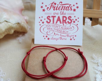 Red string of fate Friendship bracelet Protection Kabbalah Bracelet Best friend bracelet BFF bracelet Dainty bracelet Red string bracelet