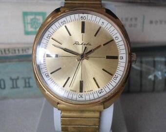Rare Raketa watch, vintage Raketa watch, wrist watch Raketa, Soviet Raketa watch, USSR watch, men's watch Raketa, mechanical watch, Raketa