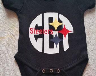 Pittsburgh Steelers inspired monogrammed shirt