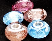 Lampwork Memory Beads - ashes in glass - fur in glass - hair in glass - memorial beads - charm or pendant - SRA