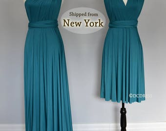 Teal green ball gown, convertible bridesmaid dresses, infinity dress, sororities dress, infinity bridesmaid dress, prom dress,maternity dres