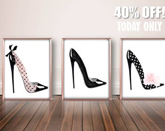 High Heels Fashion Wall Art, Designer High Heels Art, Sexy Wall Decor, Sexy